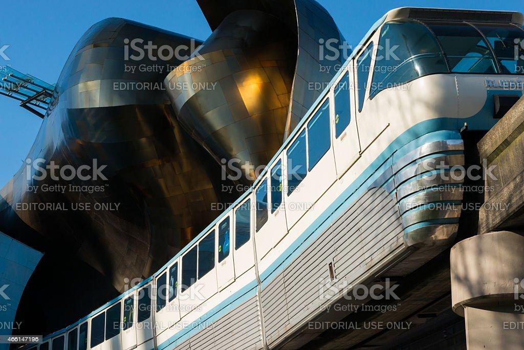Seattle Monorail stock photo