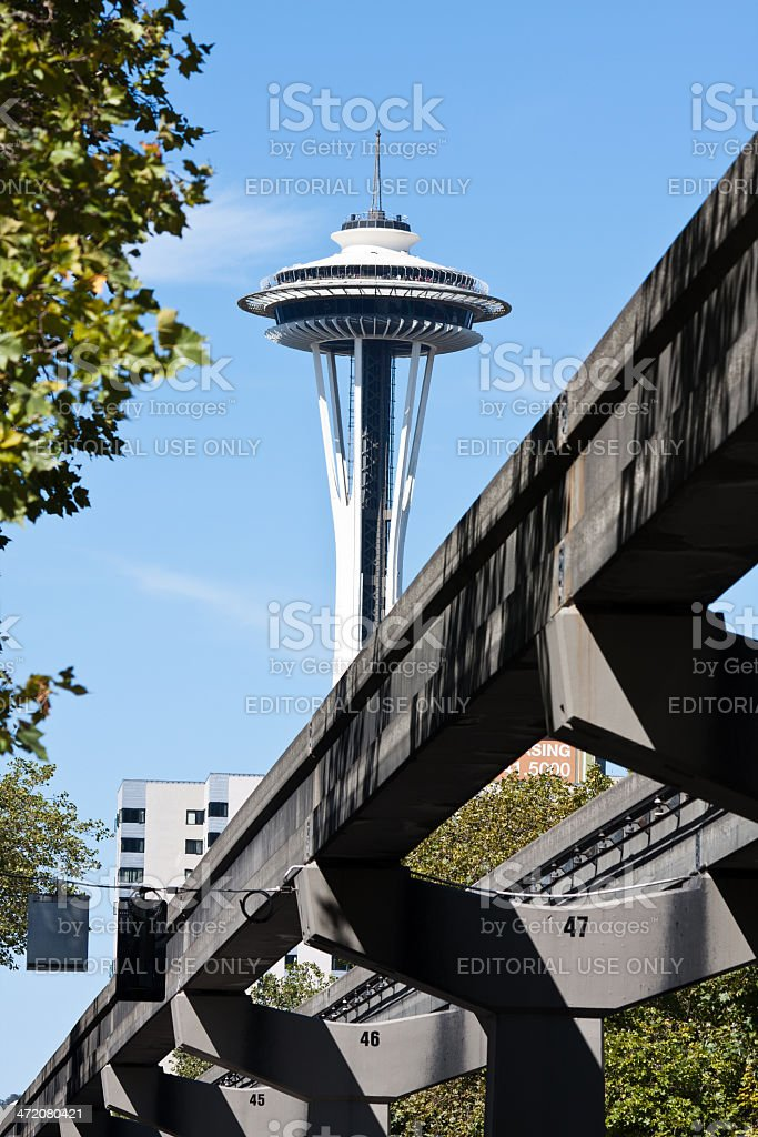 Seattle Monorail Track royalty-free stock photo