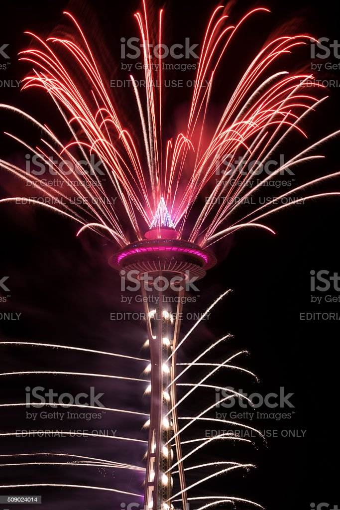 Seattle New Years Eve stock photo