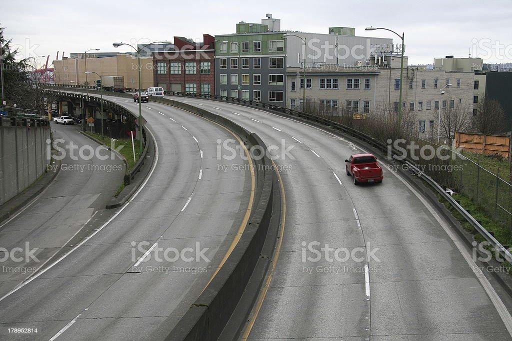 Seattle onramp stock photo