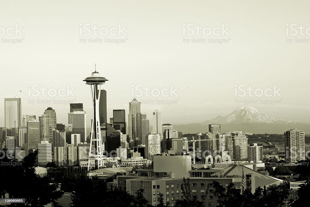 Seattle panorama royalty-free stock photo