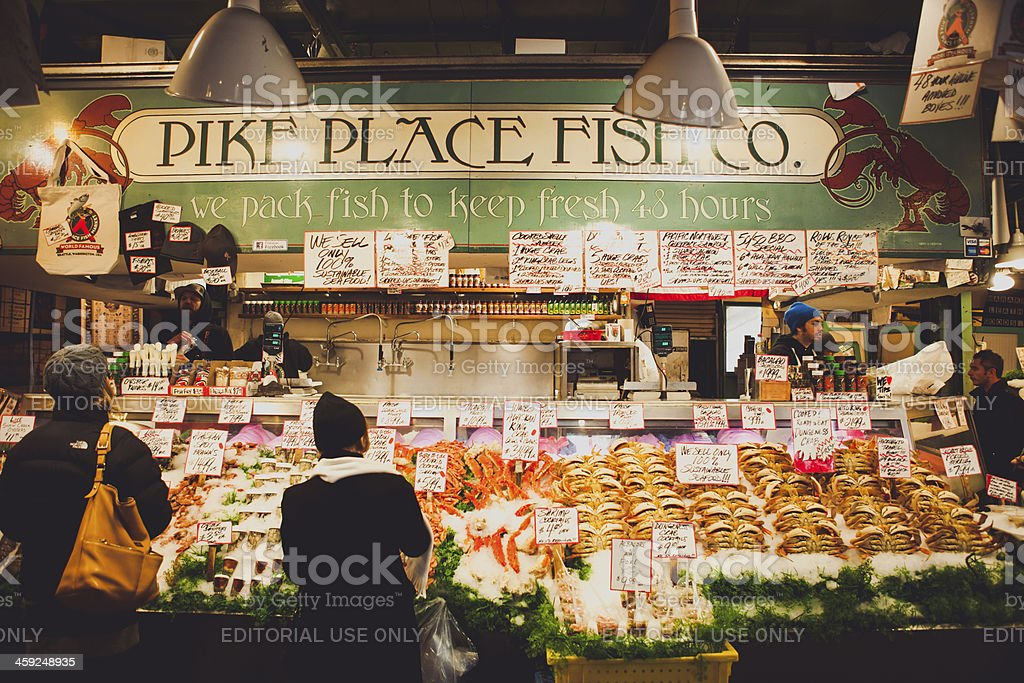 Seattle Pike Place Fish Company royalty-free stock photo