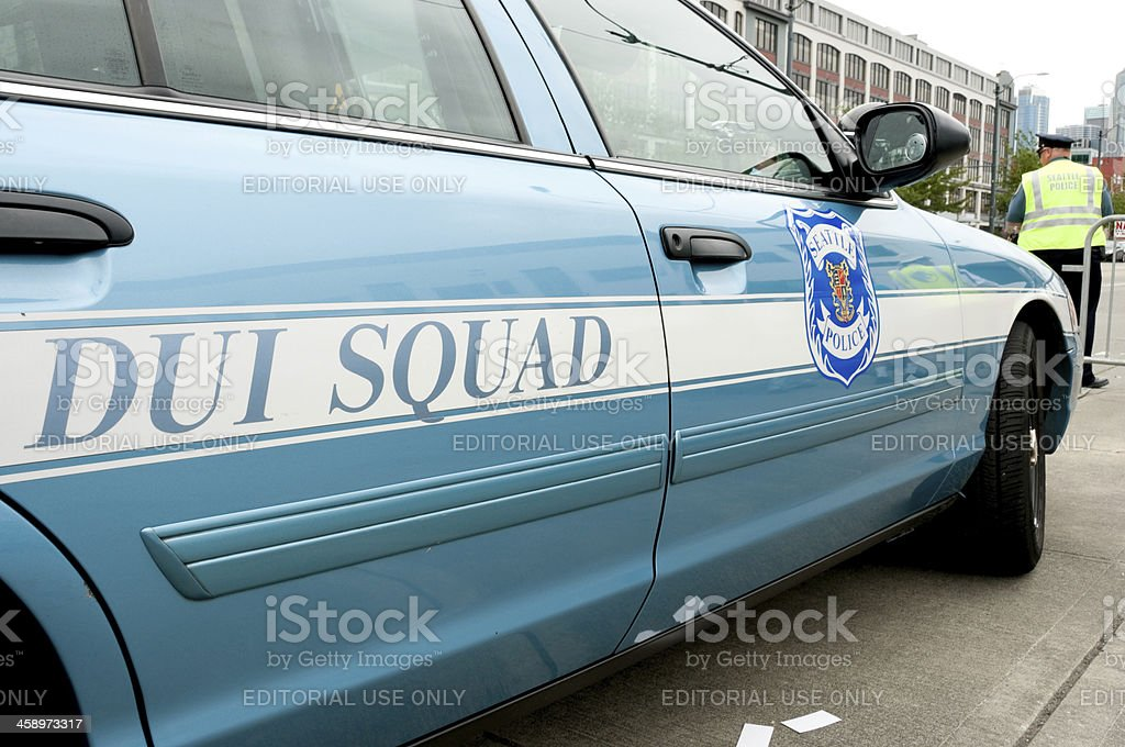 Seattle Police DUI Squad stock photo