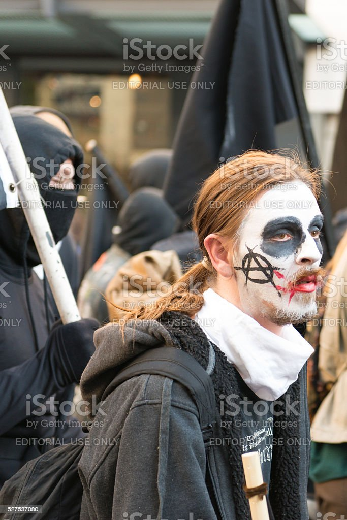 Seattle Protest stock photo