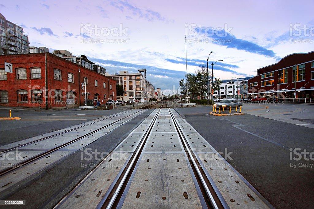 Seattle Railway stock photo