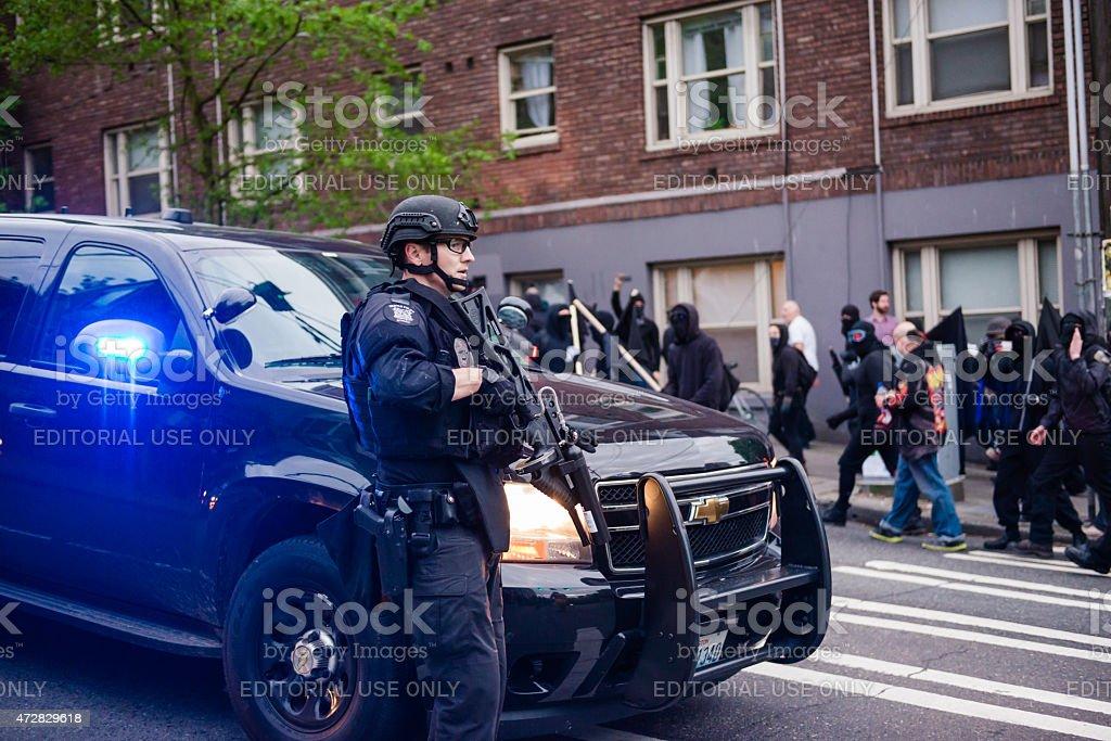 Seattle Riot stock photo