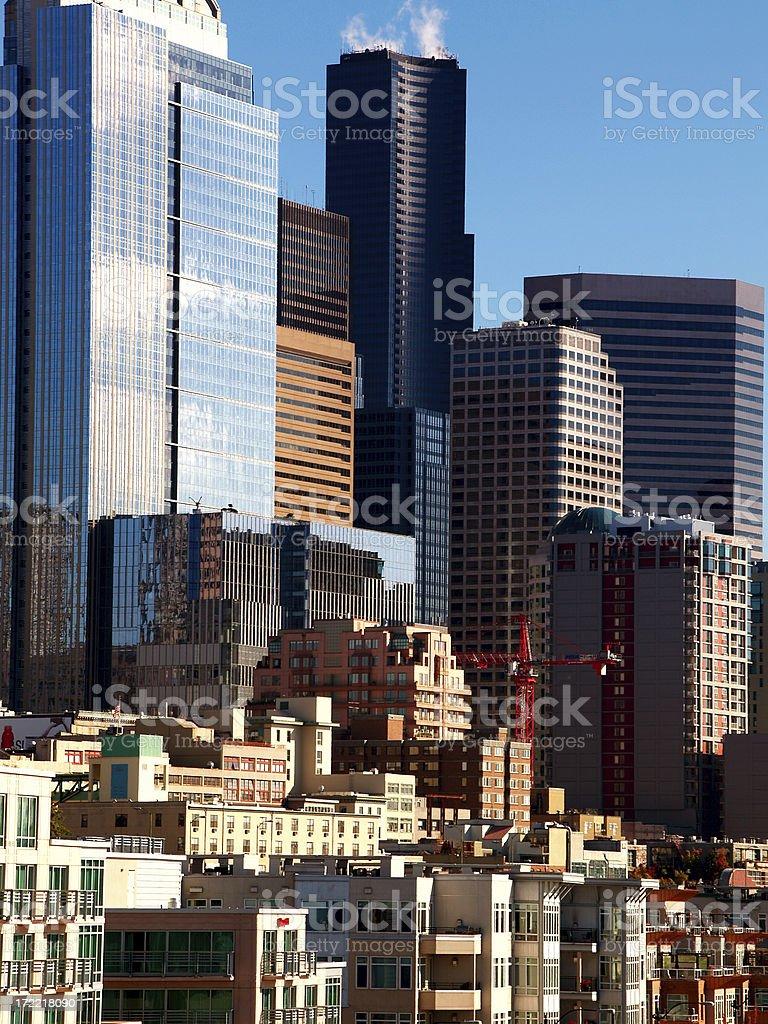 Seattle Rising royalty-free stock photo