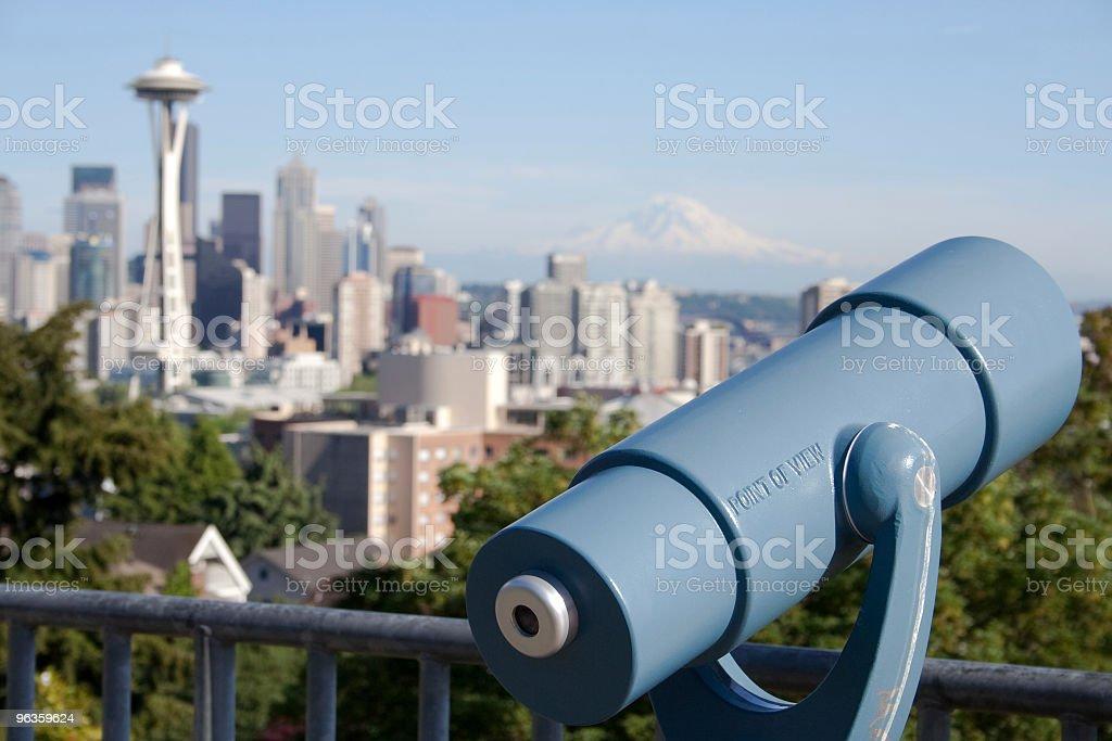 Seattle scenic overlook royalty-free stock photo