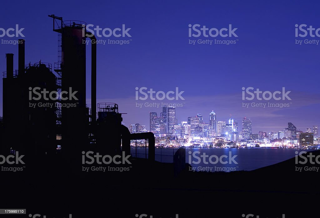Seattle Skyline from Gasworks royalty-free stock photo