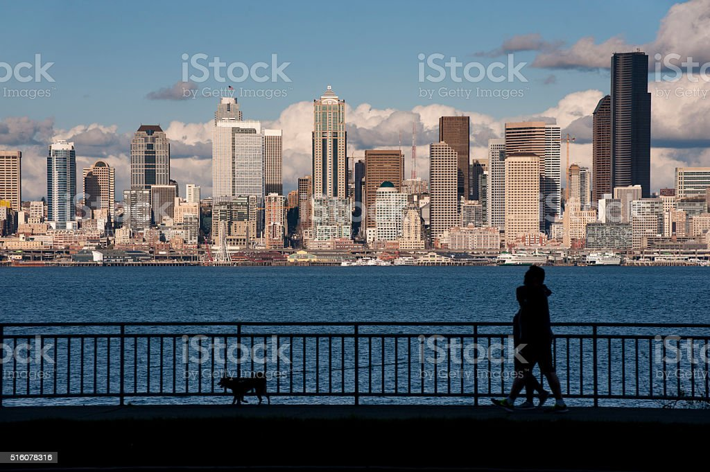 Seattle Skyline from West Seattle stock photo