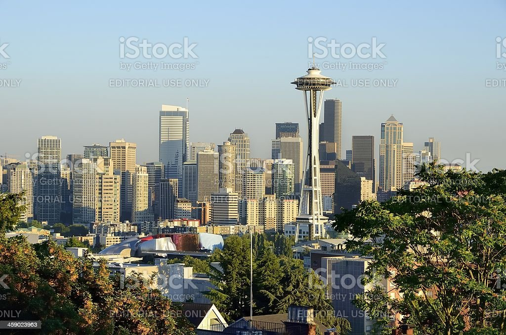 Seattle Skyline in Afternoon Light stock photo