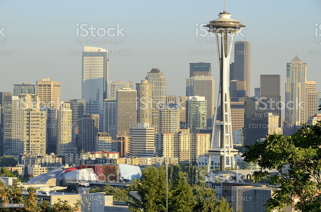 Seattle Skyline in Afternoon Light royalty-free stock photo