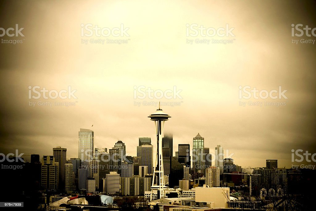 Seattle Skyline royalty-free stock photo