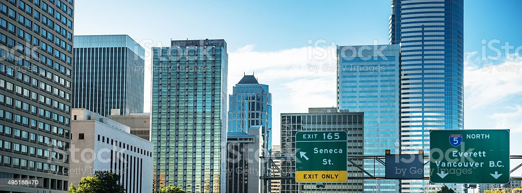 Seattle skyline view stock photo