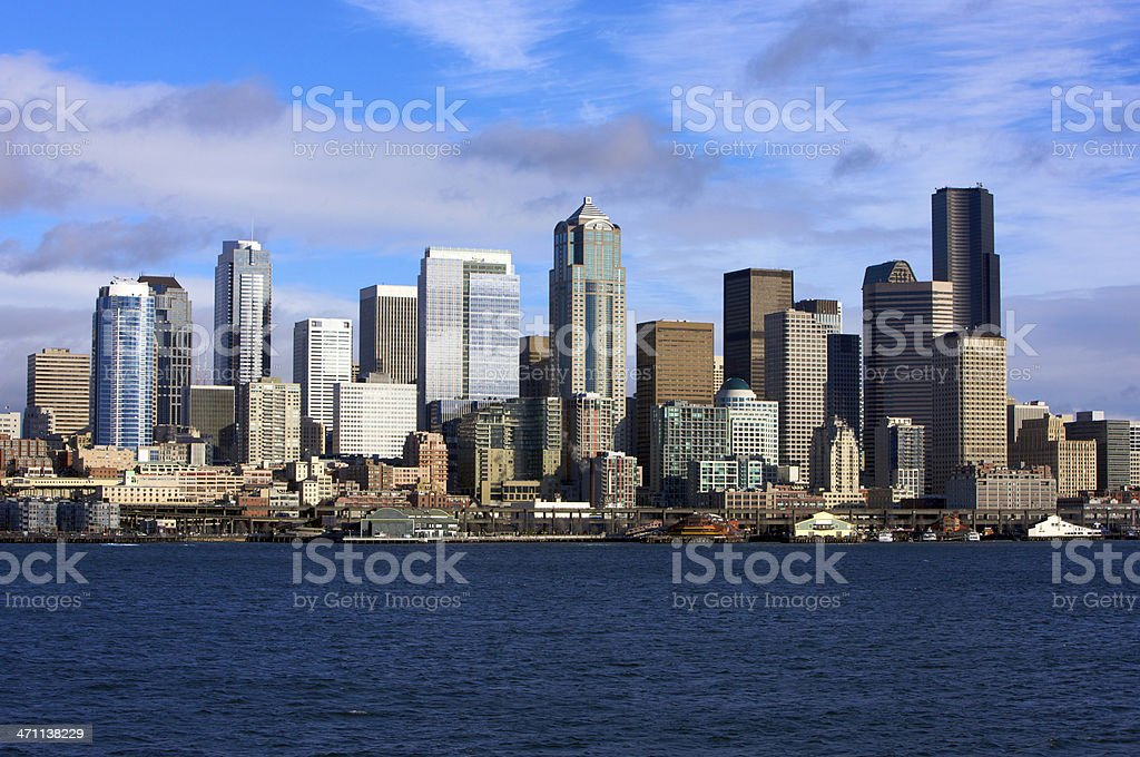 Seattle Skyscrapers royalty-free stock photo