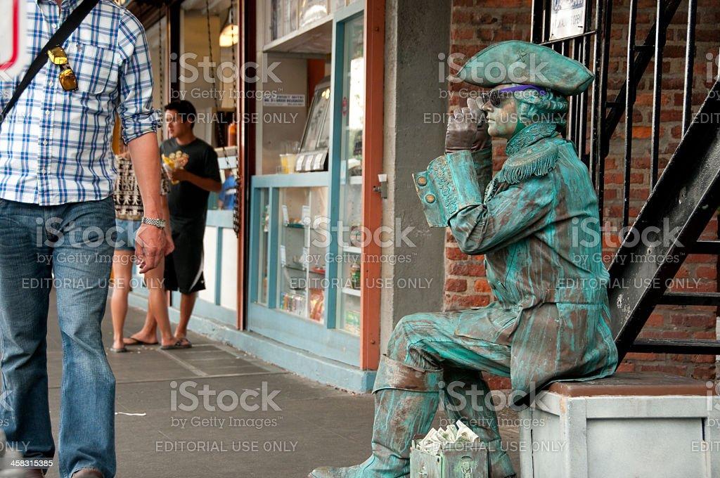 Seattle Street Performer royalty-free stock photo