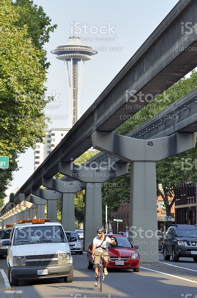 Seattle Street Scene stock photo