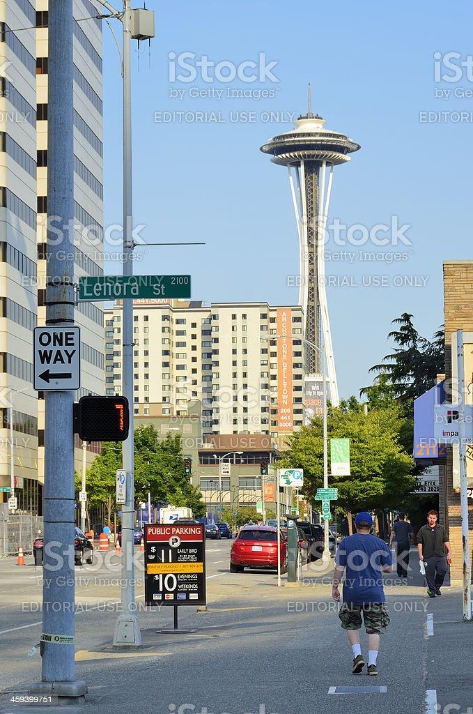 Seattle Street Scene stock photo