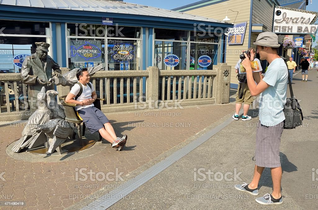 Seattle Street Scene royalty-free stock photo