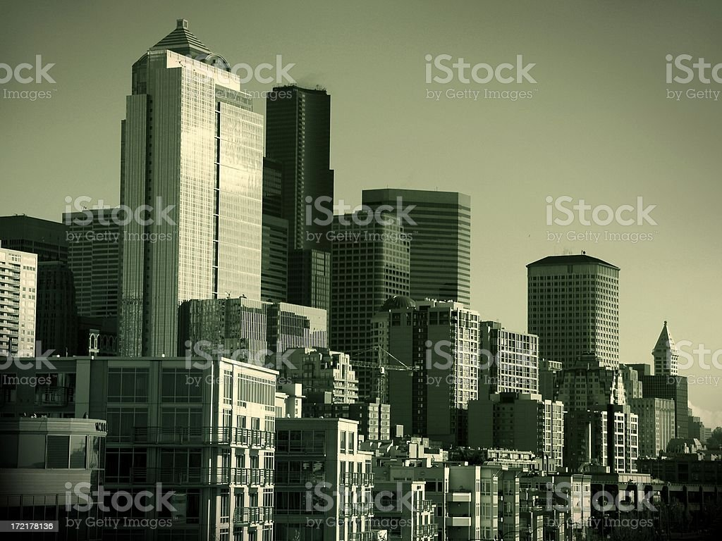 Seattle the Emerald City royalty-free stock photo