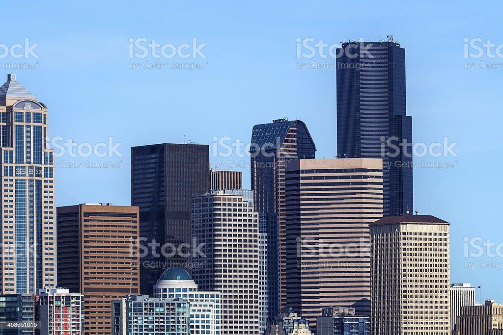 Seattle Towers Cityscape Buildings Washington royalty-free stock photo