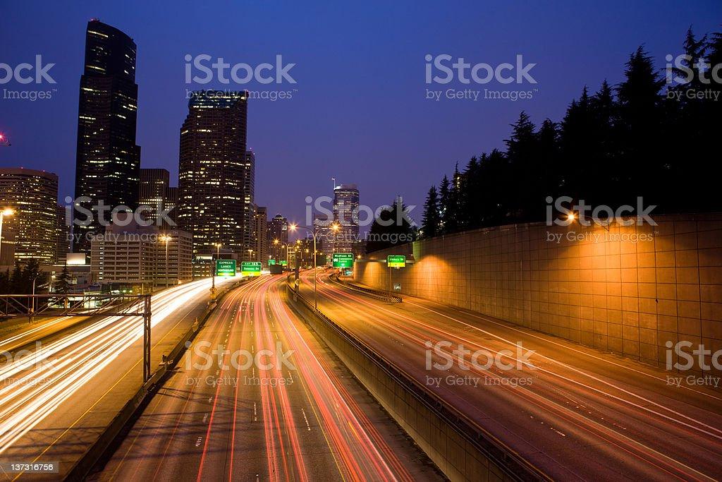 Seattle Traffic royalty-free stock photo