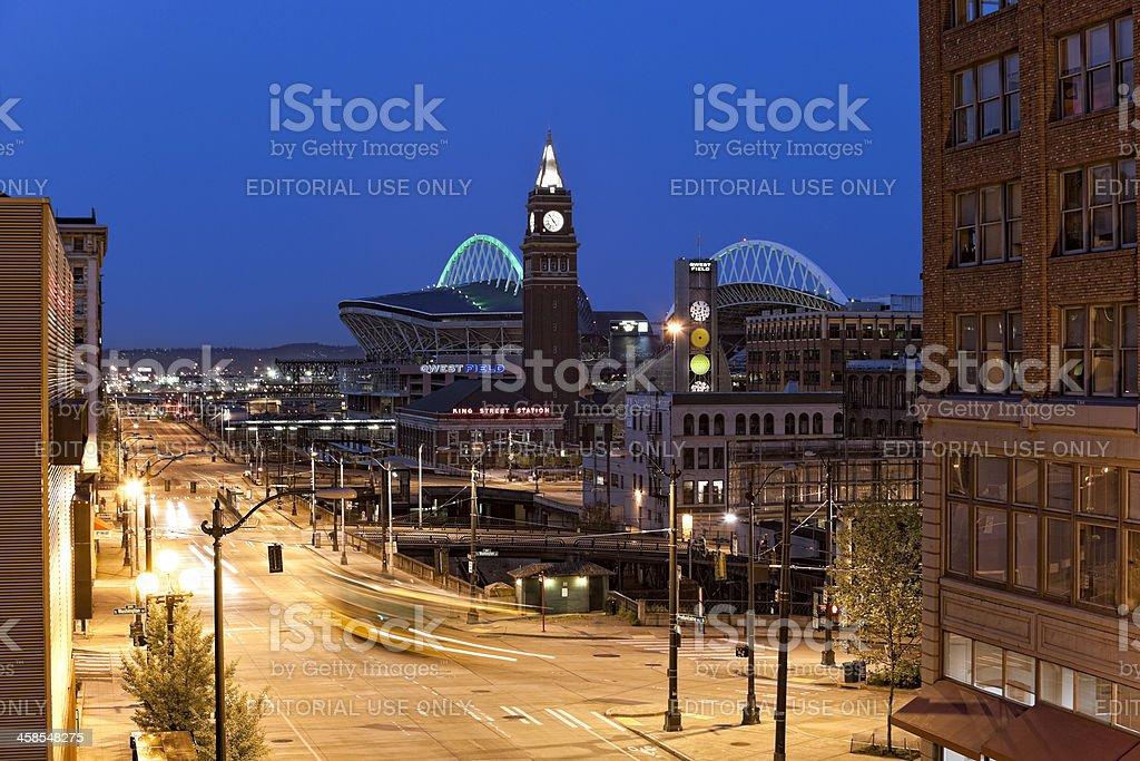 Seattle Urban Dawn stock photo