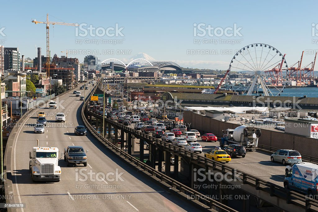 Seattle Viaduct stock photo