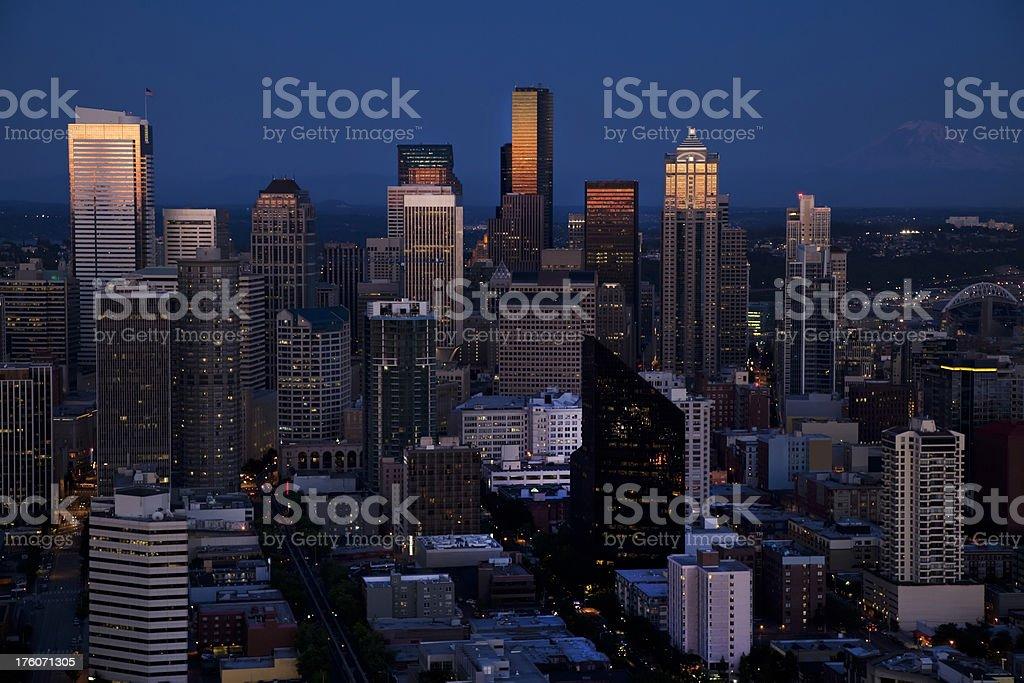 Seattle, Washington by Night (XXXL) royalty-free stock photo