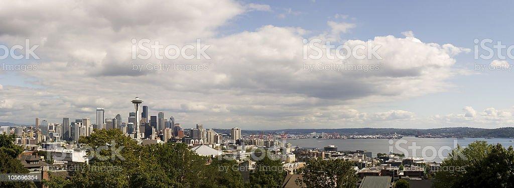 Seattle, Washington City Skyline Panoramic royalty-free stock photo