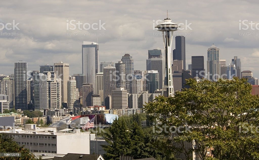 Seattle, Washington City Skyline royalty-free stock photo
