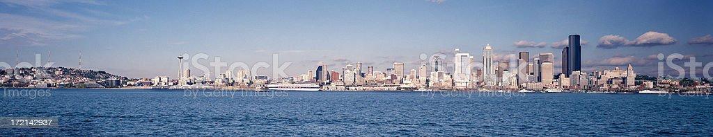 Seattle, Washington from Elliott Bay royalty-free stock photo