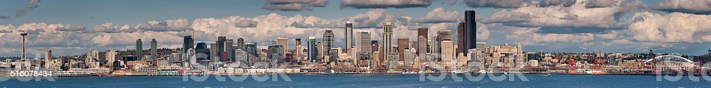 Seattle, Washington Panorama stock photo