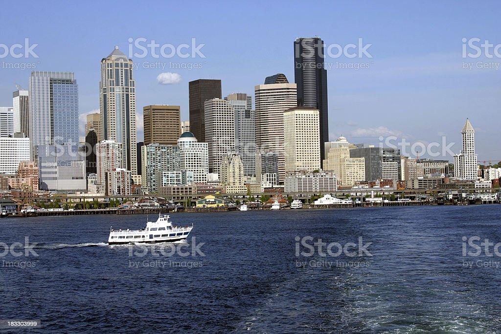 Seattle Washington Skyline royalty-free stock photo