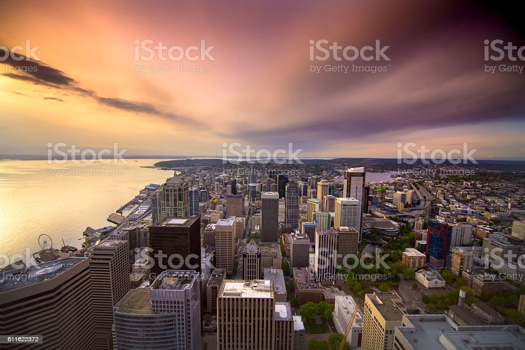 Seattle Washington Skyline stock photo