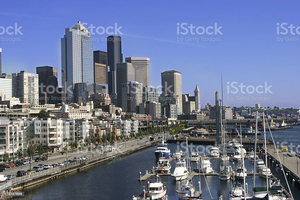 Seattle Waterfront royalty-free stock photo