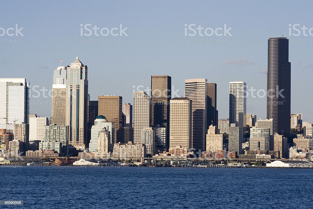 Seattle without Space Needle stock photo