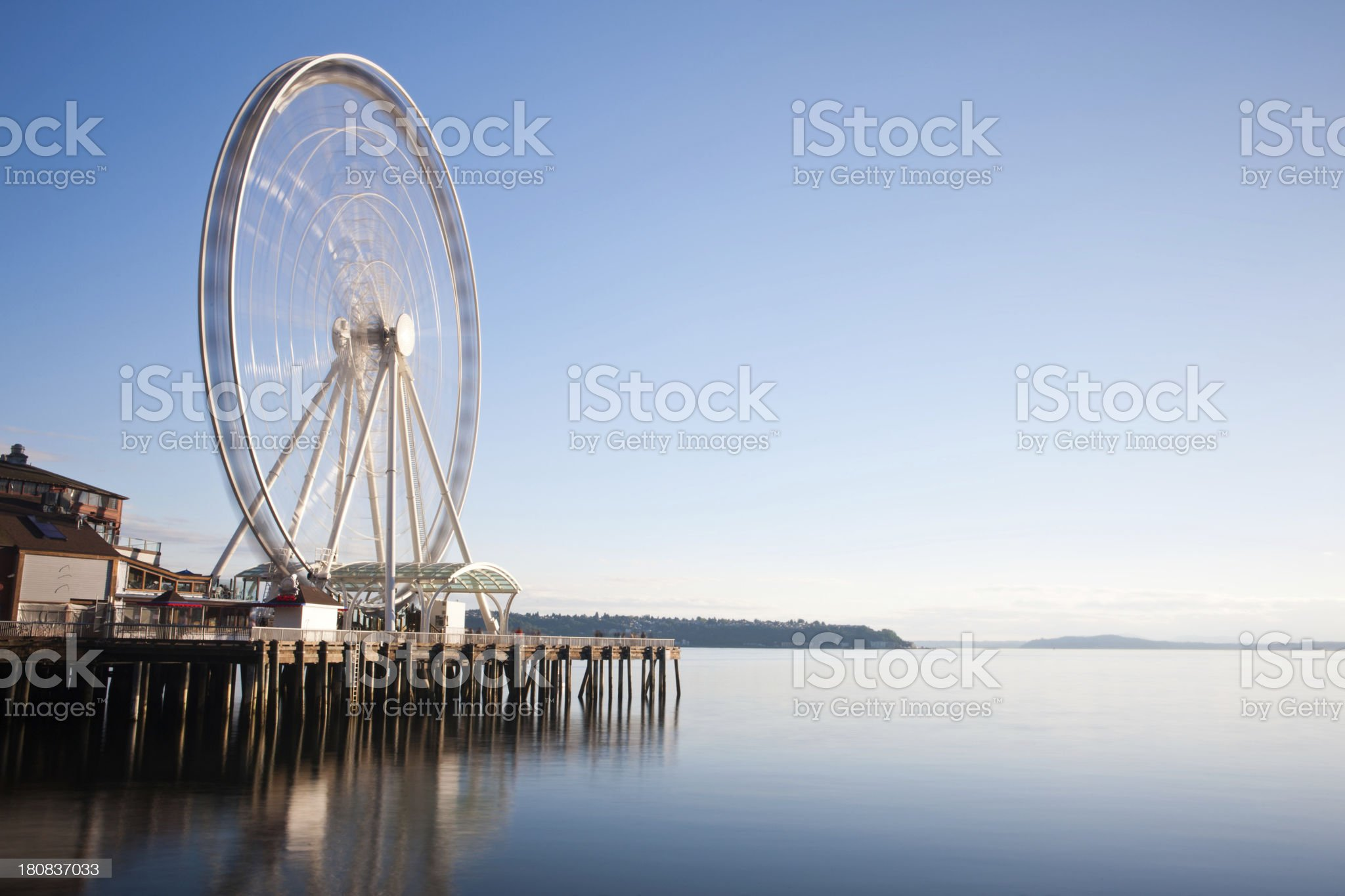 Seattle's Ferris Wheel on Pier royalty-free stock photo