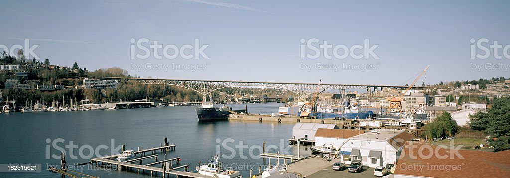 Seattle's Lake Union and Ship Canal stock photo