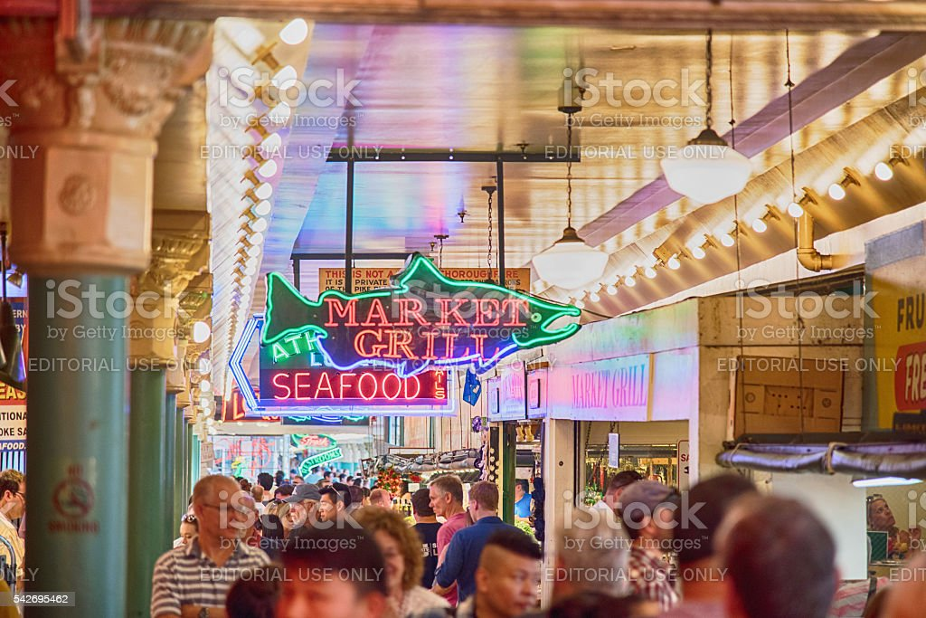 Seattle's Pike Place Market stock photo