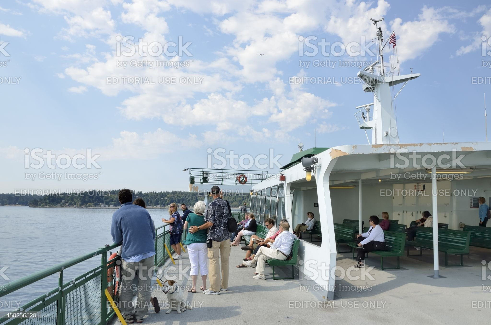 Seattle-Winslow Ferry, Seattle Washington royalty-free stock photo