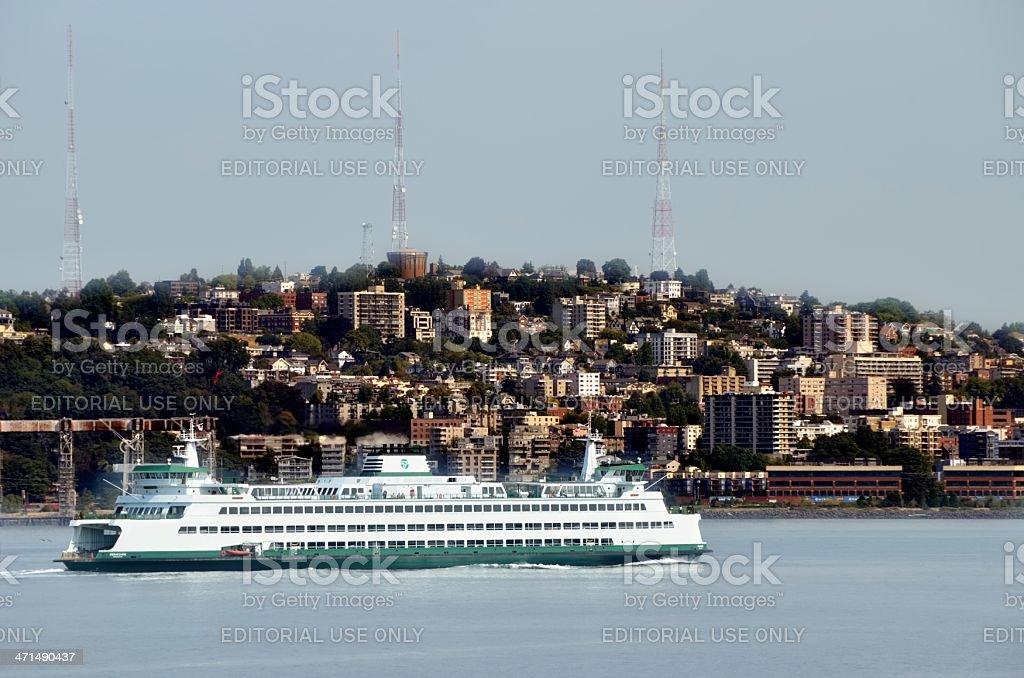 Seattle-Winslow Ferry, Seattle Washington royalty-free stock photo