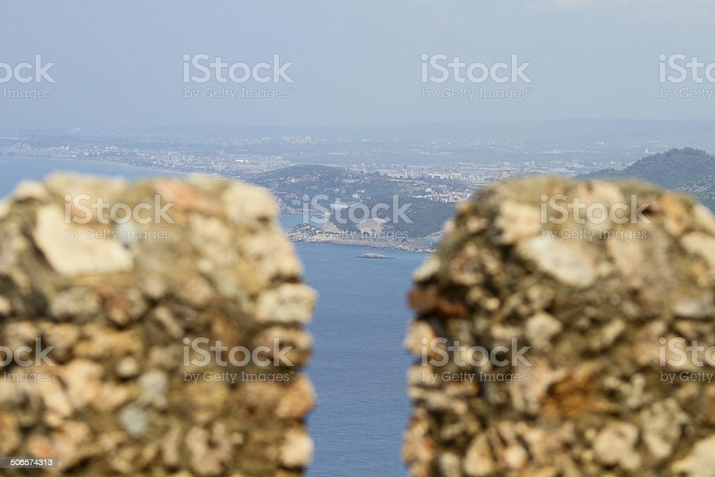 Vista mare di Alanya castle foto stock royalty-free