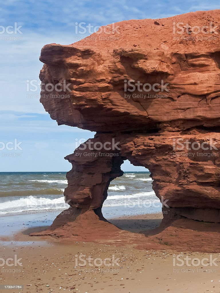 Seaview Red Sandstone Arch royalty-free stock photo