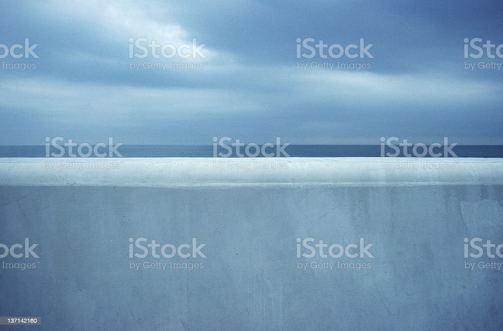 Seawall, Hampton Beach, New Hampshire royalty-free stock photo