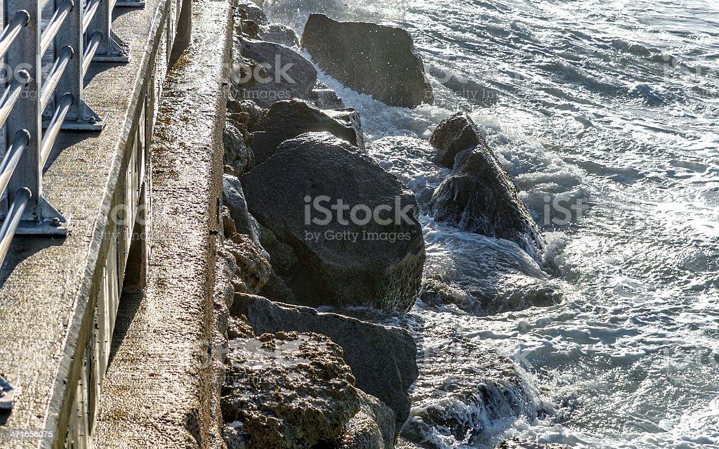 Seawall stock photo