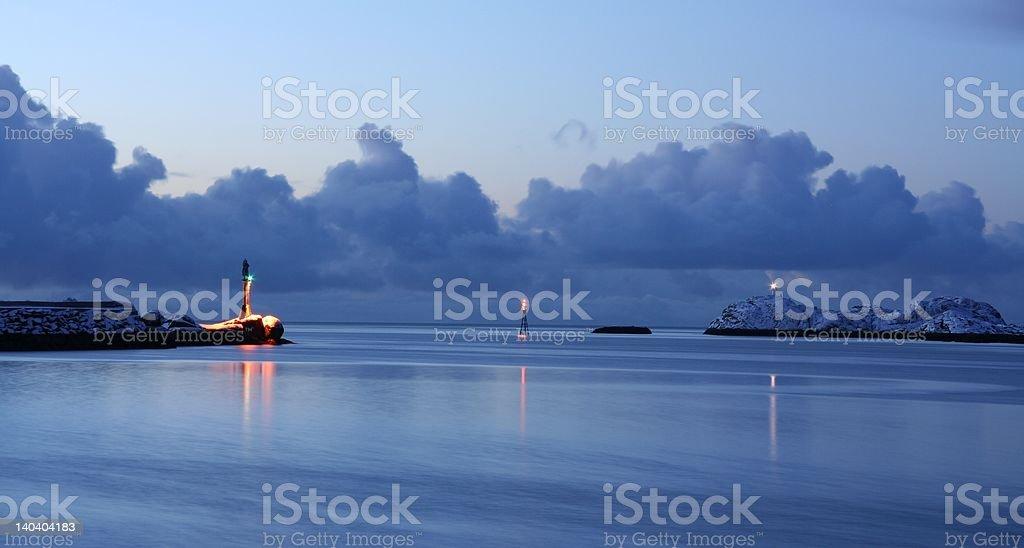 Seaward approach royalty-free stock photo