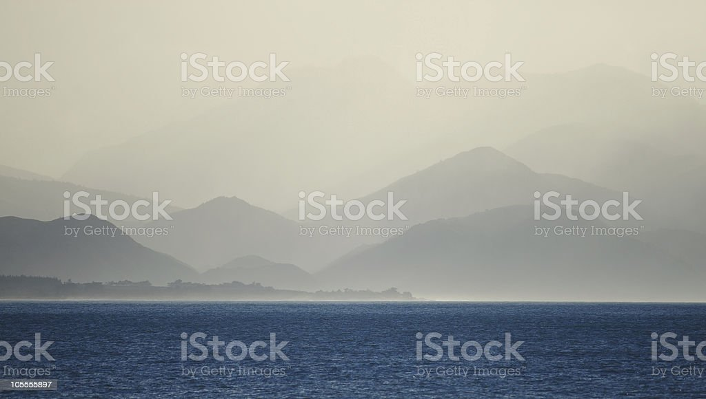 Seaward Kaikoura Range royalty-free stock photo