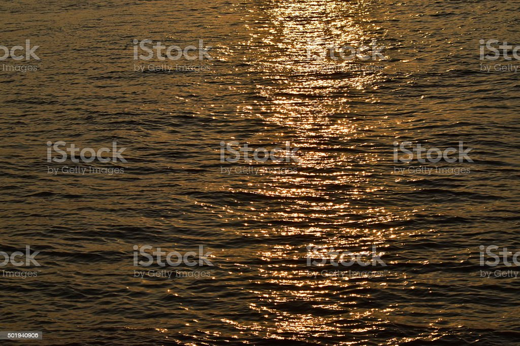 Seawater at the afternoon background - stock image stock photo