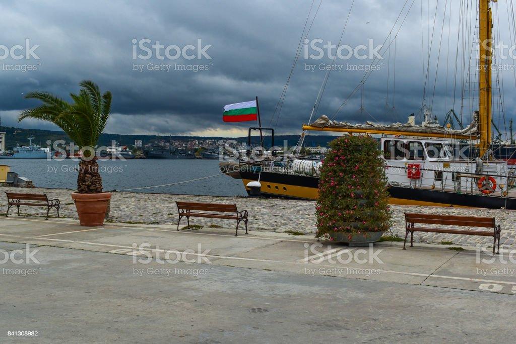 Seaway Station of Varna stock photo